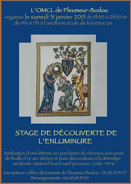 150106 Affiche stage enluminures